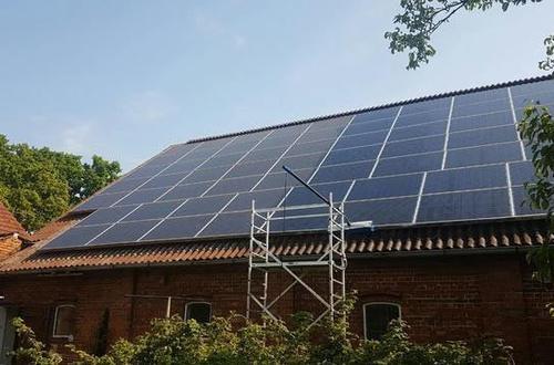 Gereinigte Photovoltaik-Anlage